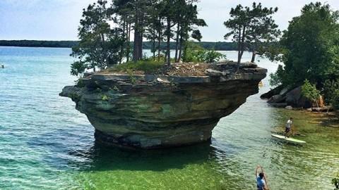 Turnip Rock, Michigan.